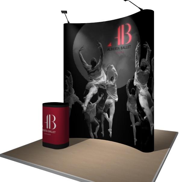 Portable Pop-Up Display for Alberta Ballet