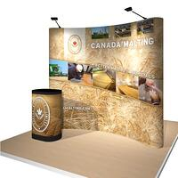 Portable Pop-Up Display for Canada Malt