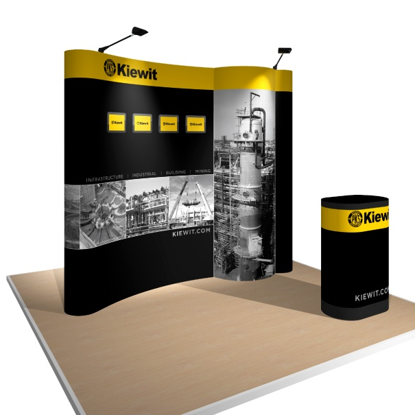 Portable Pop-Up Display with Custom Graphics for Kiewit