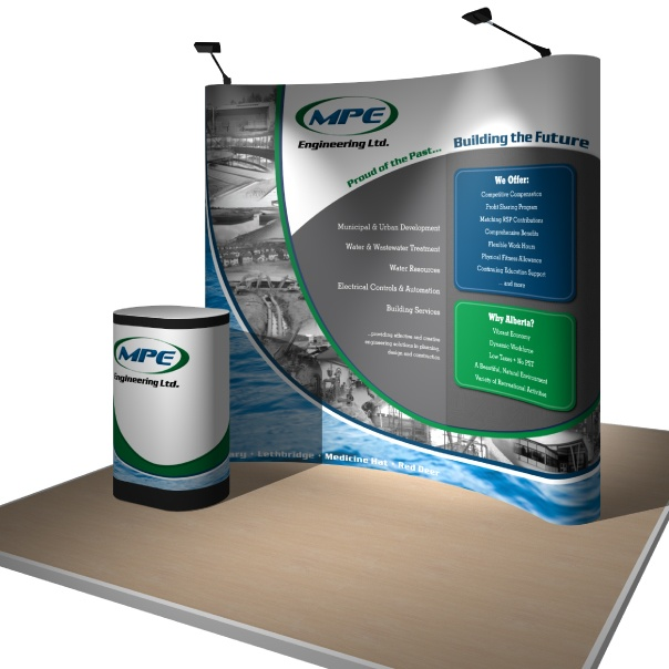 Portable Pop-Up with Fabric Inlay for MPE Engineering