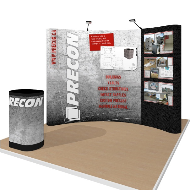 Portable Pop-Up Display with Velcro Graphics