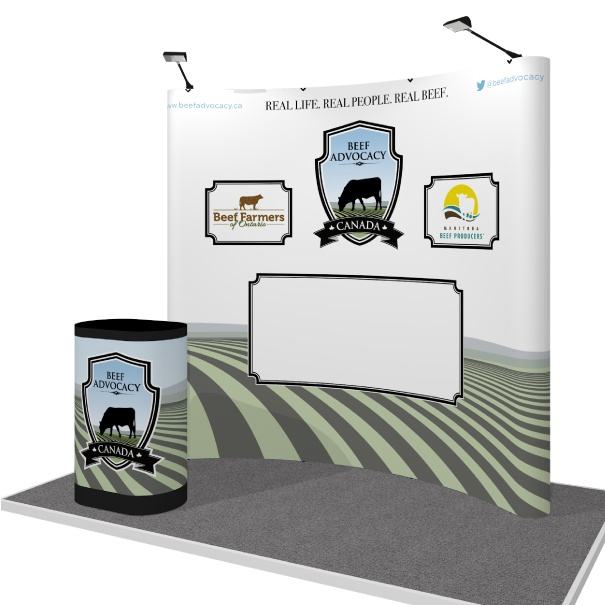Magnetic Portable Pop-Up Display for Canada Beef