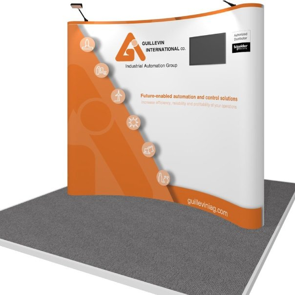 Monitor Inset Pop-Up Display for Guillevin International