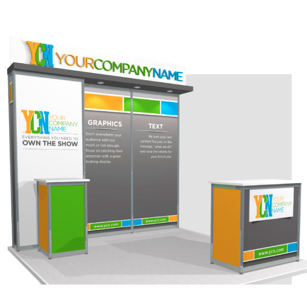Rental 10x10 Octanorm Trade Show Display