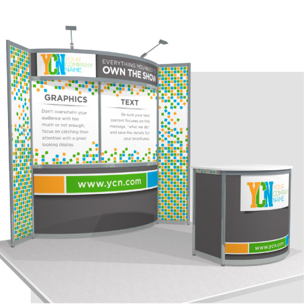 10x10 Rental Octanorm Display with Winged Walls